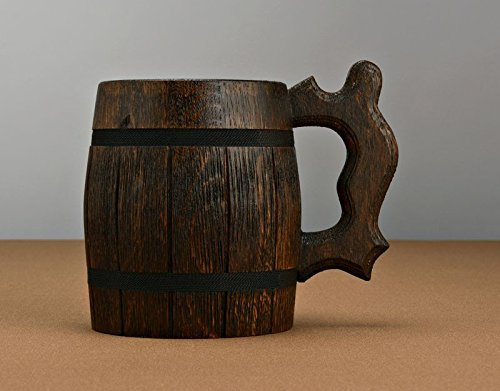 MadeHeart | Buy handmade goods Large Beer Mug with Metal Inside Made of Wood Eco Friendly by MadeHeart | Buy handmade goods