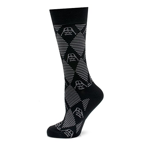 Star Wars Darth Vader Argyle Stripe Black Socks, Officially Licensed