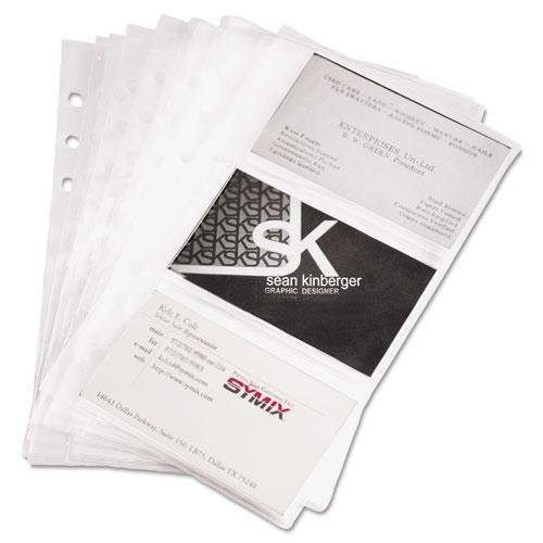 (Samsill 81079 Refill Sheets for 4 1/4 x 7 1/4 Business Card Binders 60 Card Capacity 10/Pack)