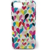 Kate Spade New York Protective Rubber Case for iPhone 7 & iPhone 6/6s - Confetti Hearts Rainbow