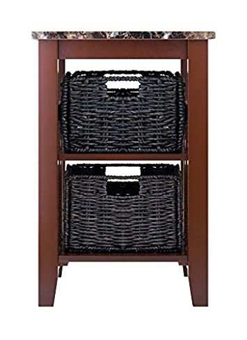 Winsome Wood 76320 Zoey Accent Table, Chocolate