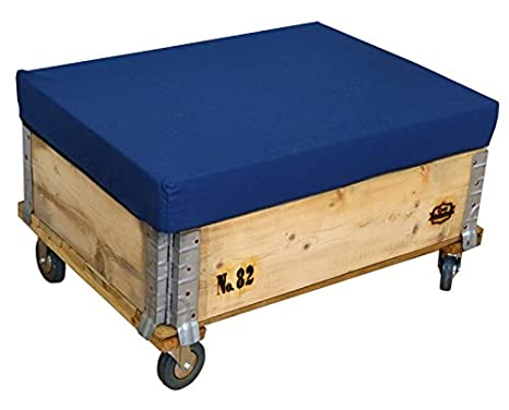 Pouf a cubo con ciancioli 80 x 60 cm con ruote luxomobel 60 cm