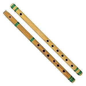 Indian Bamboo Flute Bansuri, Set of 2, Fipple & Transverse, For Kids