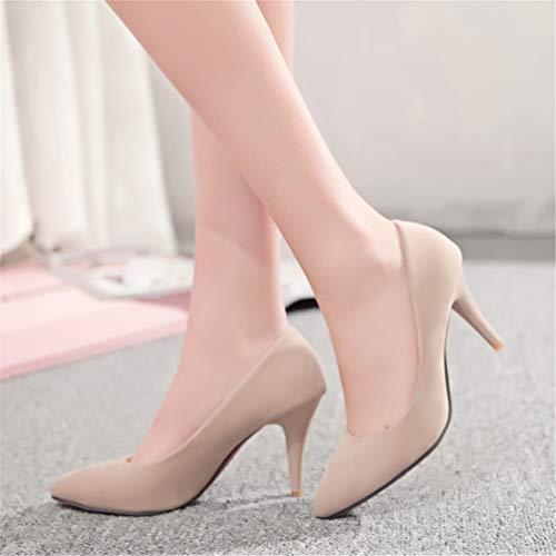 Kaki Stilettos Talons Cm Bureau Pompes Chaussures Chaton Lady Minces Hauts Femmes Accent Bout Flotteurs 7 YxwA6xF