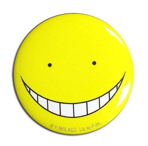 16536 Great Eastern Entertainment Assassination Classroom Koro Sensei Happy Button 1.25 1.25 Great Eastern Entertainment Inc