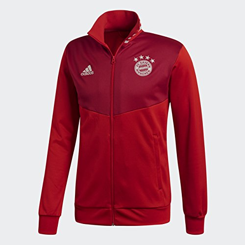 adidas World Cup Soccer Barcelona Men's Soccer 3 Stripes Tracktop, True Red/Strong Red, 3X-Large by adidas