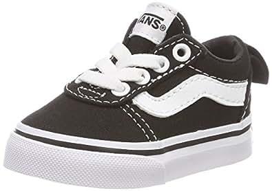Vans TD Ward Slip-On, Unisex Babies' Shoes, Black ((Canvas) black/white 187), 2.5 UK (18 EU)