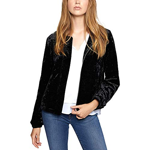 Sanctuary Womens All You Need is Me Velvet Lightweight Jacket Black L from Sanctuary Clothing
