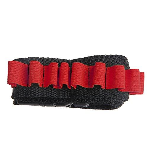 (OWIKAR Bandolier Bullet Belt Gun Bullet Darts Shoulder Strap Bandolier Kit Ammo Storage Holder For Elite Nerf N-strike Blasters (Red))