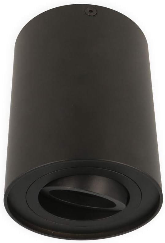 LED line Deckenleuchte CUBO Aufbaustrahler Lampe Aufputz Leuchte Strahler Schwenkbar 45/° Eckig Schwarz aus Aluminium mit Fassung GU10 5W Leuchtmittel Warmwei/ß