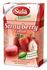 THREE PACKS of Sula Natura Strawberry Cream Sugar Free Sw...