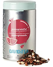 DAVIDsTEA Pomegrateful Loose Leaf Tea Iconic Tin, Premium Pomegranate Tea with White Tea and Hibiscus, Fruity Iced Tea, 100 g / 3.5 oz