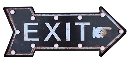 Vintage Room Home Man Cave Bar Restaurant Retro Decorative Lighted Exit/Entrance Pub Rustic Bar Sign Wall Mounted (Exit) - Bar Outdoor Neon Sign