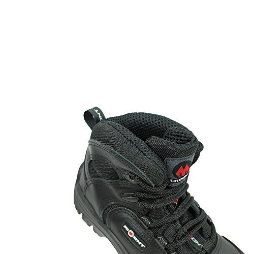 AIMONT - Calzado de protección de Piel para hombre Negro negro Negro - negro