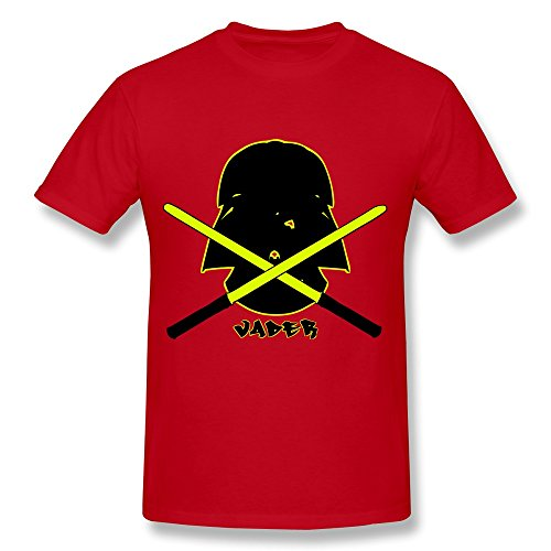 Vader Cross Sabres Joke Roundneck Red Shirt For Guys Size XL