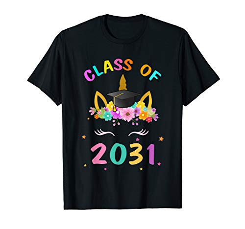 Kid First Day Of School Class Of 2031 Grow With Me Unicorn  -