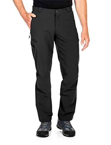 Jack Wolfskin Herren Activate Thermic Pants Men Softshell-Hose, Black, 52