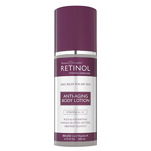 Retinol Anti-Aging Body Lotion - Corrective & Preventative Relief For Dry Skin With The Original Retinol - Luxurious Treatment Smooths Dry, Flaky Skin w/ Botanical Moisturizers & Vitamin A from Retinol