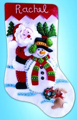 Design Works fieltro Christmas decorations calcetín de calcetines de Navidad Kit de decoración de para de