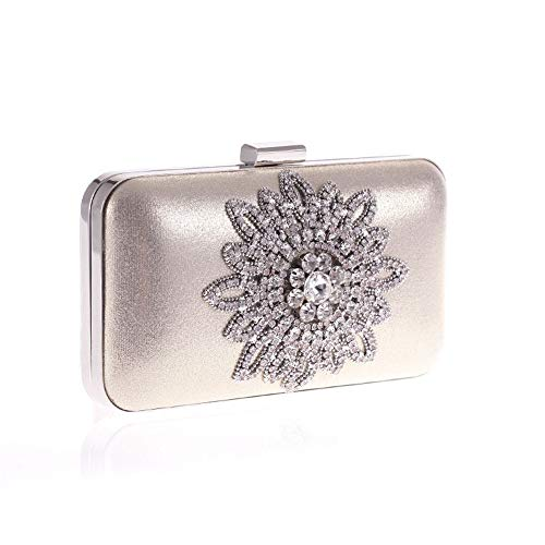 Fashion Bag Evening For Women Gold Flower Hand Clutch Lovely Clutch Wedding Sun Bag Rabbit Purse vqwOIFX