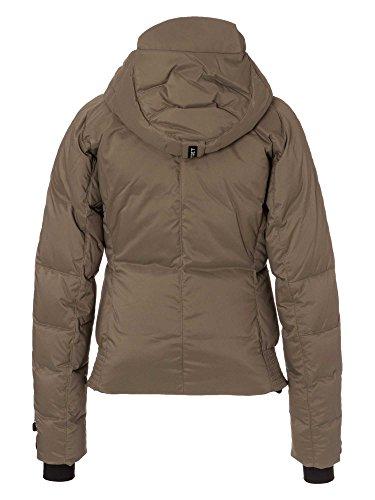 JET SET Chaqueta de plumón Catun ropa de esquí Mujer marrón