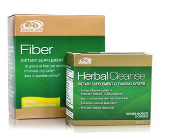 Advocare Herbal Cleanse & Citrus Fiber Kit + Bonus>Herbal Cleanse 20 Capsules & Fiber 10 Pouches by AdvoCare