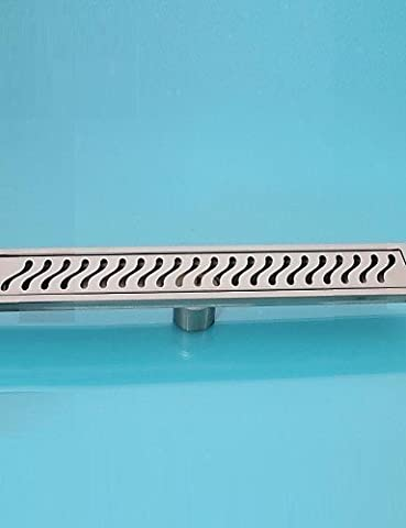 BL@ Linear Floor Drain Stainless Steel Adjustable Exit Plain Model(400mm)