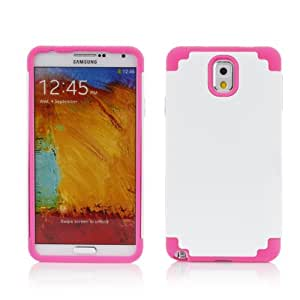 Century Accessory Hybrid Rubber Combo Matte Hard Case Cover Skin For Samsung Galaxy Note 3 III White