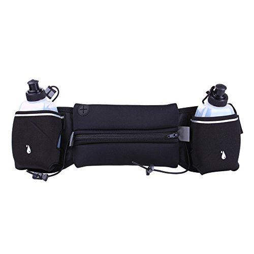Cinturón de hidratación para correr con agua Bot para iPhone X & Samsung Galaxy S8–uso como correr riñonera o bolsa...