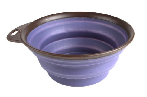 Dexas Popware for Pets Collapsible Travel Cup/Bowl, Large, Purple, My Pet Supplies