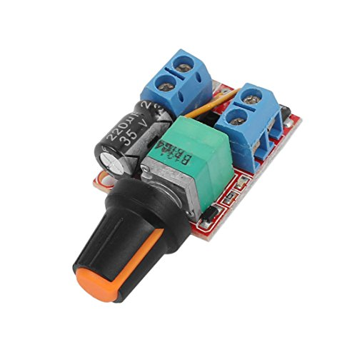 uxcell Mini DC 3-35V 5A PWM Motor Speed Controller Speed Switch LED (Pwm Speed Controller)