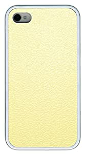 iPhone 4 4s Cases & Covers - Pale Yellow Traces The Background TPU Custom Soft Case Cover Protector for iPhone 4 4s - White