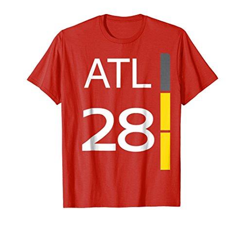 2 Sides ATL 28 Scoreboard Shirt for Halloween Football Fans