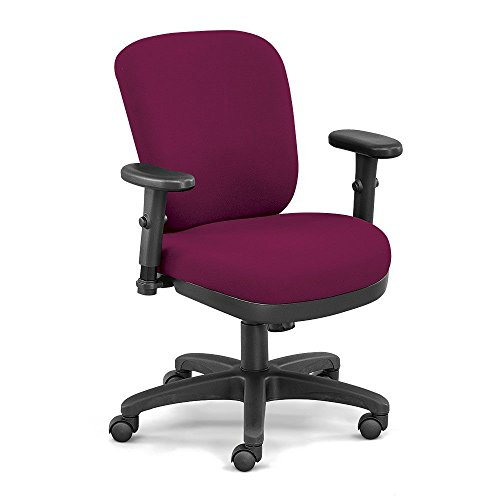 (Petite Compact Low Height Ergonomic Chair in Fabric Dimensions: 26