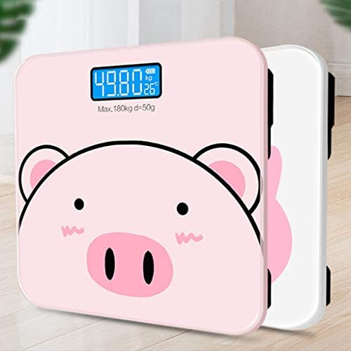 AA+ High-Precision Digital Weight Bathroom Scale with Tempered Glass Platform, Electronic Scale 180kg Capacity, Backlit Display - 26cmX26cm