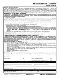 Amazon Com Briggs Healthcare Home Care Admission Service