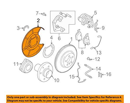 Bmw Brake Backing Plate - BMW 34 21 6 760 854, Parking Brake Backing Plate