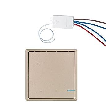 1 Vía interruptor inalámbrico de pared Home luces con 220 V ...