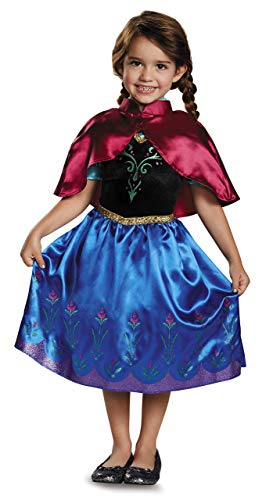 Disguise Disney Frozen Anna Deluxe Costume with Felt Headband (3T-4T) -