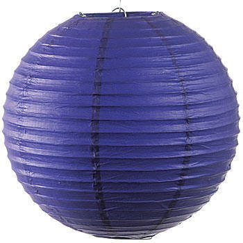 36 Inch Purple Round Paper Lantern Party Decoration