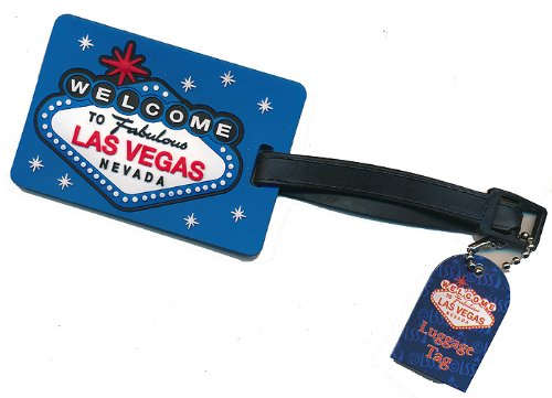 Las Vegas Sign Blue Luggage Tag
