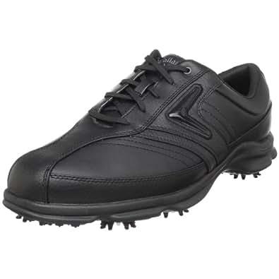 Callaway Men's C-Tech Saddle Golf Shoe ,Black/Black,18 M US