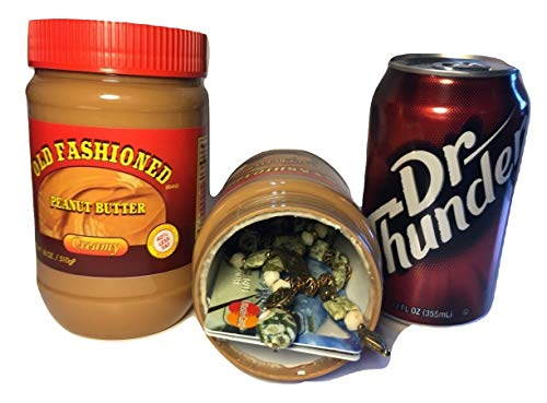 Stash Safes Diversion Secret Safe Peanut Butter with Free Bonus Can Container to Hide Money Jewelry Stuff