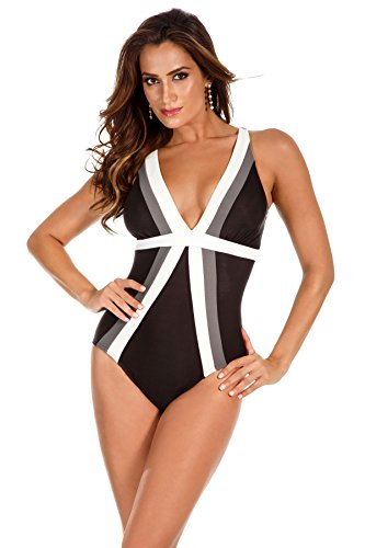 Miraclesuit Women's Spectra Trilogy One Piece Swimsuit Black 14 by Miraclesuit