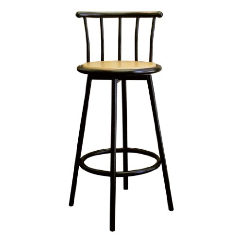 ORE International R652 BK Set of 2 Swivel Barstools, Black