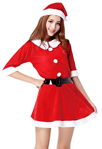 Zombie Army Costumes (GAGA womens Plus Size Santa Claus Sweetie Costume 3 OS)