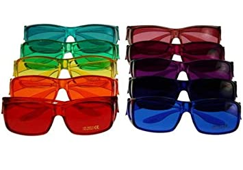 6d6b584791 Image Unavailable. Image not available for. Color  Color Therapy Glasses  Full Color Set Fits ...