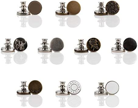 17mm Detachable Buttons Jeans Easy Clip Snap Button 8PCS 4//8 PCS No Sew Instant Buttons Replacement Buttons for Jeans Thin Waist No Sewing Required Accessories
