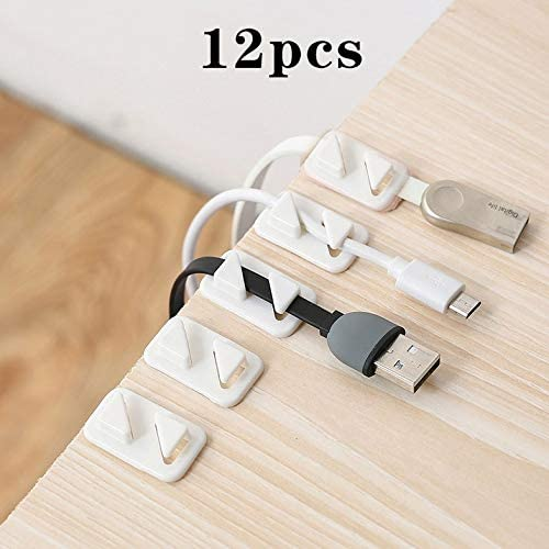 Furobayuusaku Universal Wire Tie Self-adhesive Rectangle Cord Management Cable Holder Clip