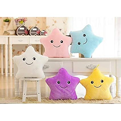 Amazon.com: Led Star almohada luminosa de peluche suave LED ...
